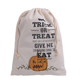 Original Halloween Bolsa Lona Partido Halloween Sacks Drawstring Candy Regalos Bolsa