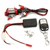 Original Steel Wired Crawler Winch Control System+Wireless Remote Receiver RC Car Parts SCX10 D90