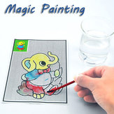 5Pcs Magical Water Painting Pictures Drawing Paper Pens Mats Kids Children Development Learning Toys
