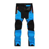 Mens Outdoor Stitching Quick-drying Pants Waterproof Windproof Sport Pants