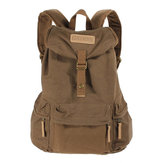 Original Coffee Vintage Canvas DSLR Case Bag Travel Hiking Sport Rucksack