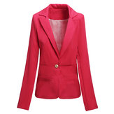Fashion Casual Slim Ladies Buckle Stripe Lining Suit