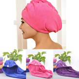4 Colors Hair Drying Towel Double Side Coral Fleece Dry Hair Hat