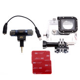 Original Side Open Protective Housing Case And Microphone With Adapter Cable For Gopro Hero 3/3+/4