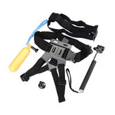Original Selfie Monopod Tripod + Adapter + Float Bobber Stick + Chest Belt Head Strap For Gopro Hero 4 3 HD SJ4000 Xiaomi Yi Sport Camera