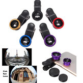 Original 3 In 1 Clip Fish Eye Lens Wide Angle Macro Lens For Iphone 6 6 Plus Samsung Smartphone