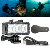 Original 30m Underwater Waterproof LED Dive Light With AHDBT-201 301 Battery For Xiaomi Yi GoPro Hero 2 4 3+ 3 SJ4000 SJCAM