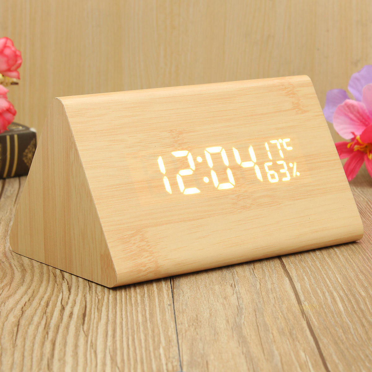 USB Voice Control Wooden Wooden Triangle