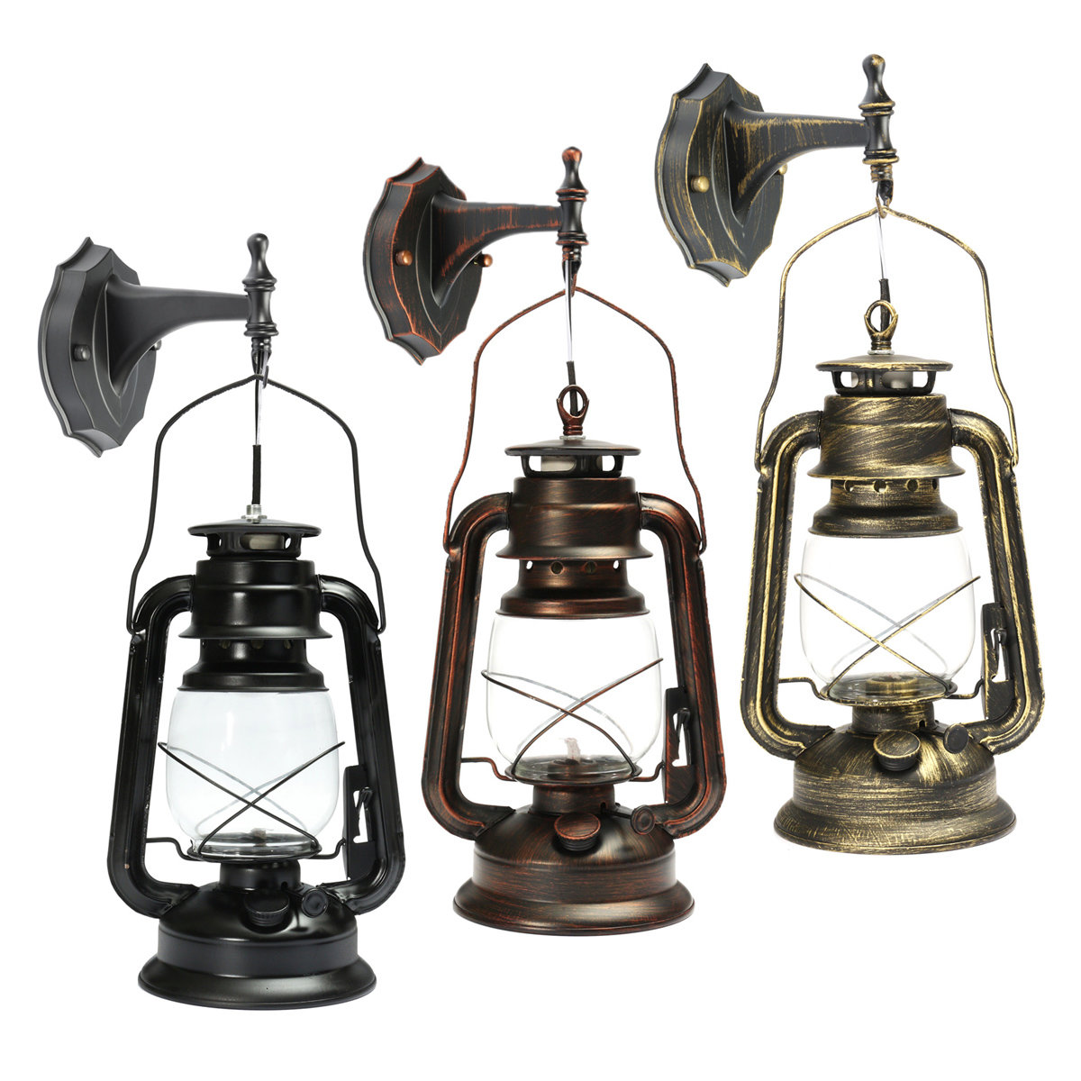 Vintage Retro Thrift Wall Lamp Lantern