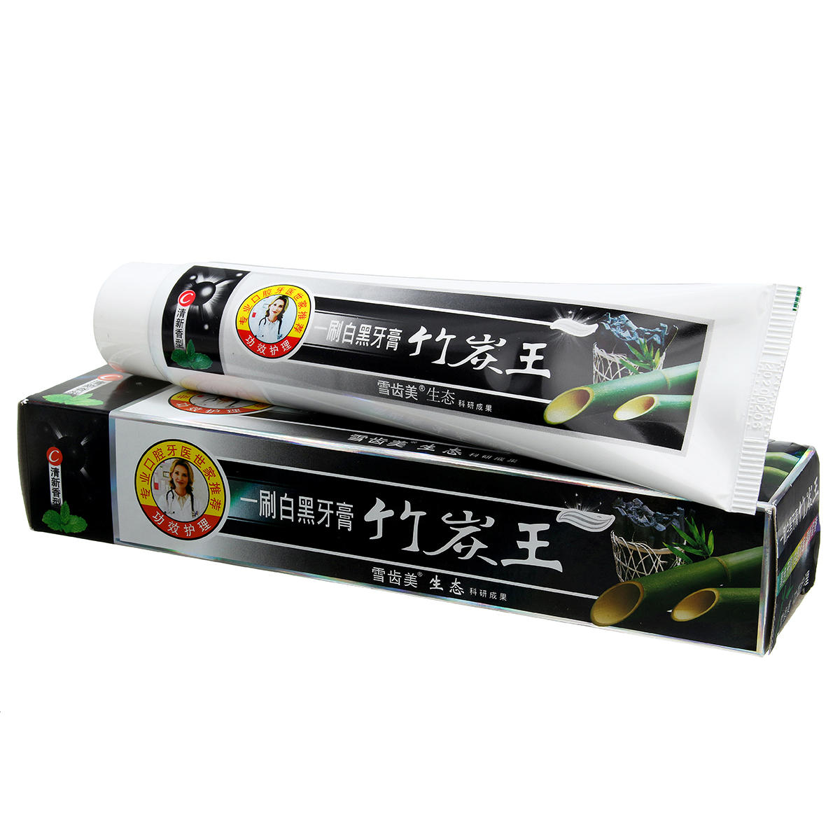 160g Black Bamboo Charcoal Tooth Whitening