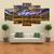 Decorazione domestica della casa della decorazione della parete della tela di canapa della tela di canapa e del crepuscolo della cascata 5 senza struttura inclusa ins