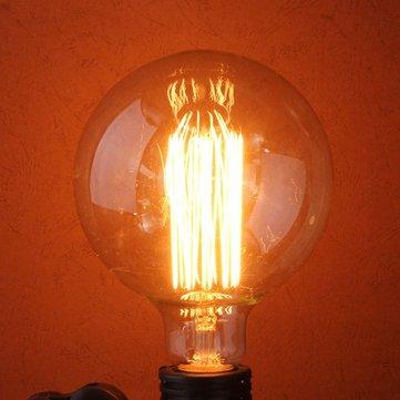 60w 110 / 220v bulbo edison 138 milímetros x 95 milímetros retro E27 lâmpadas incandescentes g95