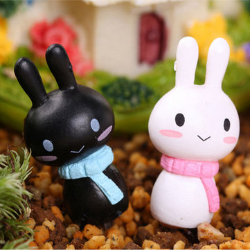 Cartoon Cute Rabbit Garden Micro Landscape DIY Decorations