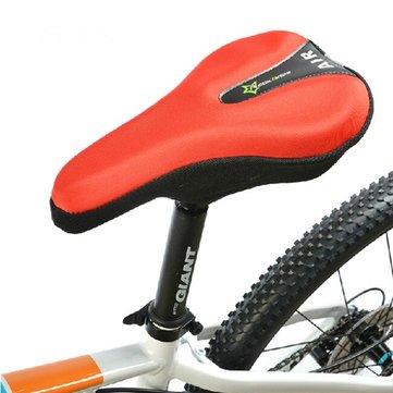 Assento bicicleta selim de bicicleta capa de almofada de gel 3d cauda reflexivo