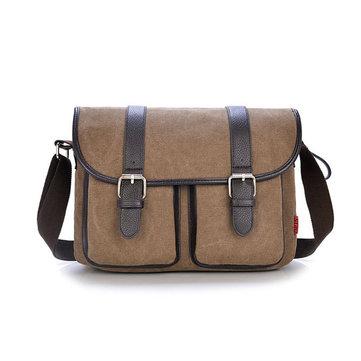 Mens borsa vintage del messaggero borsa di tela spalla viaggio militare