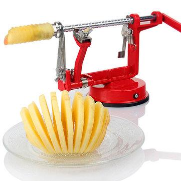 3in1 Apple Slinky 기계 필러 Corer 감자 과일 커터 슬라이서