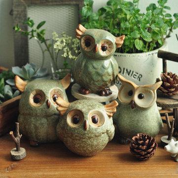 Owl ceramic ornaments retro animal home furnishings for Decoration hibou