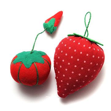 토마토 딸기 핀 쿠션 바느질 바늘 홀더 키트 공예