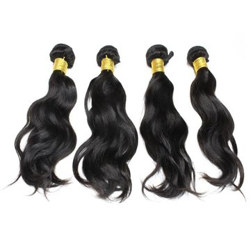 Brazilian Water Wave Virgin Real Human Hair Piece Extension