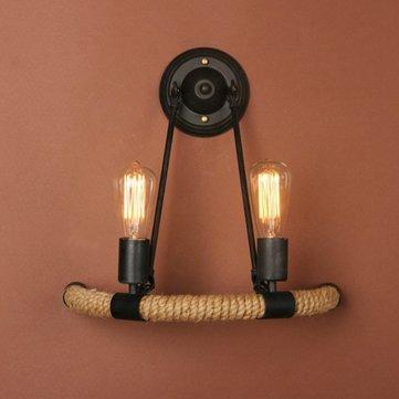 Corda retro casal quarto luz de parede bar corredor decoração da lâmpada