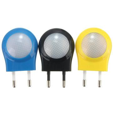 Мини-LED 0.7 Вт ночного управления свет авто датчик ЕС Разъем для детского спальне лампы