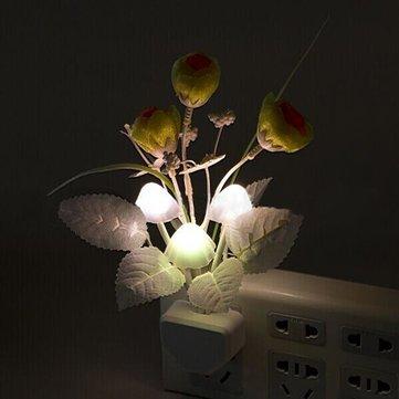 LED 7 cores mudando de luz de controle do sensor aumentou de cogumelos a luz da noite