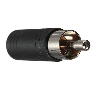 3.5mm Mono Female Jack Socket to Phono RCA Plug Adapter Connector