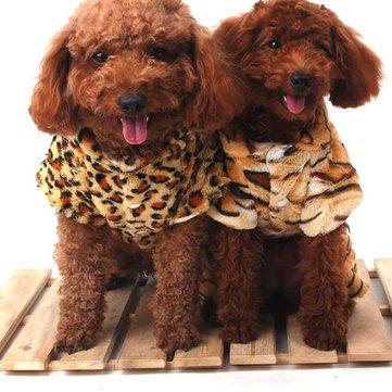 PetLeoparYazdırKışTulumClothes Köpek Kedi Coat Costume