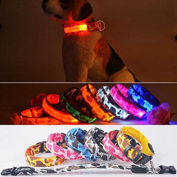 L Pet Dog LED Collar Nylon