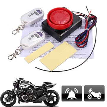 12V Motorcycle Bike Vibration Detector Anti-theft Alarm System 982697