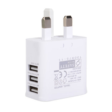 Uk 3 porte USB Power Adapter di viaggio del caricatore per il telefono mobile