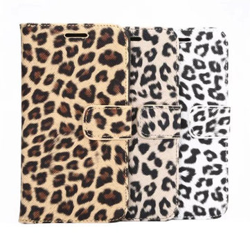 Leopard Grain Leather PU Case For