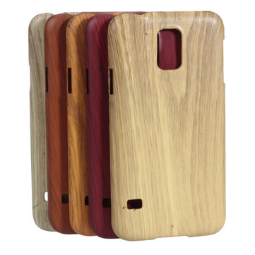 Wood Grain Protective Case For Samsung S5 i9600 Smart Phone