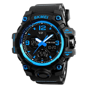 SKMEI 1155B New 50M Waterproof Outdoor Digital Watch Multifunction Chronograph Men Watch