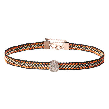 JASSY® 18K plaqué or Micro Inlays strass choker Bohemian Exquisite Necklace for Women