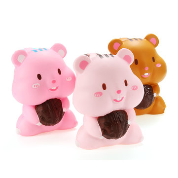 Meistoyland Squishy Eekhoorn Holding Filbert 10cm Slow Rising With Packaging Collectie Cadeau Decor Soft Toy