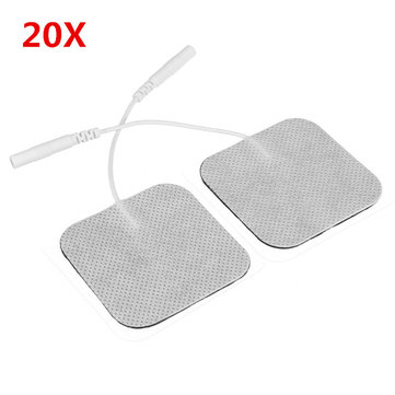 20Pcs Square Fabrics Electrode Pads Massagers Tens Cloth White 50x50mm