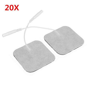 20Pcs Square Fabrics Electrode Pads Massagers Tens Cloth White 50x50mm