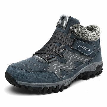 На открытом воздухе Крюк Loop Casual High Top Warm Shoes для мужчин