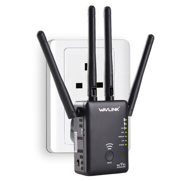 Wavlink AC1200 1200Mbps Dual Band 4x3dBi External Antennas Wireless WIFI Repeater Router Signal Booster