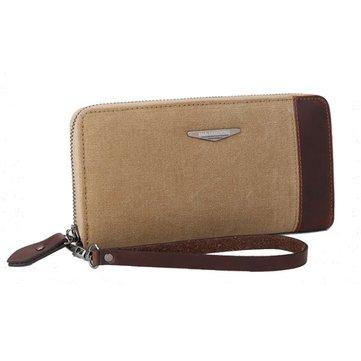 النساءالرجالقماشطويلمحفظةسستة محفظة بطاقة حامل براثن حقائب الهاتف