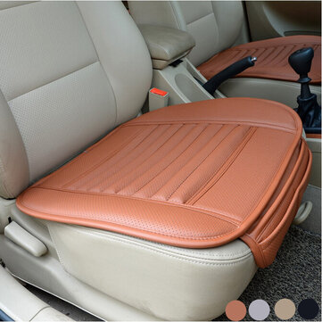Universal Seat Pad PU Leather Bamboo Charcoal Car Cushions Car Seat Covers for Auto Car Chairs Interior