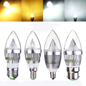 e27 e14 b22 e12 45w dimmable led chandelier candle light bulb 220v