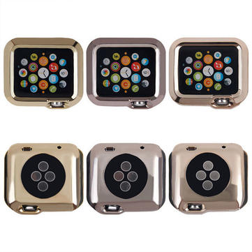 42mm Ultrathin Plated Plating TPU Protective Hard Case Cover For Apple Watch