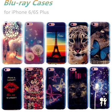 Ultra Thin Blu-ray Soft TPU Gel Silicon Blue Light Protector Cases For iPhone 6/6S Plus