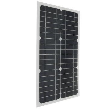 Elfeland EL-07 18V 20W 42x28x0.25 ซม. กึ่งยืดหยุ่น โซลา แผงควบคุมด้วยชิปพลังงานแสงอาทิตย์ + 3M สายเคเบิล