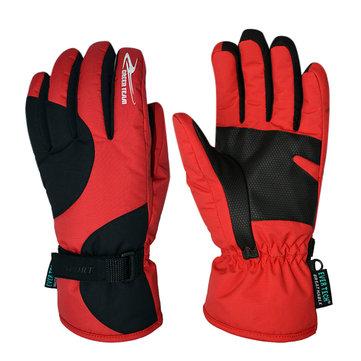 Мужской зимний теплый электромобиль ветра холода перчаток водонепроницаемые лыжные перчатки