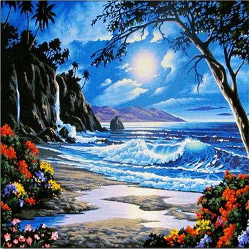 جميلة البحر لوحات زيتية الإبداعية اللوحة بواسطة أرقام تزيين المنزل