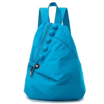 女性 ナイロン Safe Lock Casual PU Button バックパック Lightweight Travel Bag 7 色s