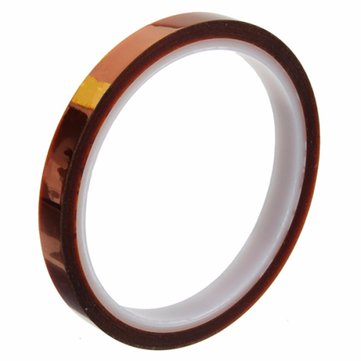 10mm x 100ft Kapton Tape High Temperature Heat Resistant Insulation Tape Polyimide Gold